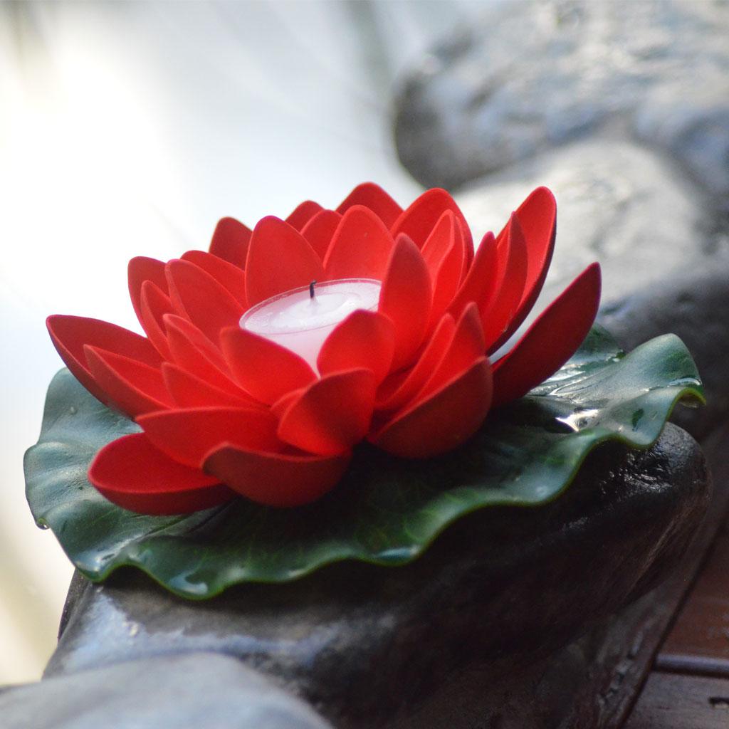 Lanternshop Floating Lotus Flower Candles For Summer Events