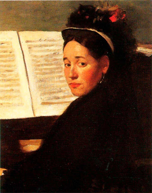 Эдгар Дега - Мадмуазель didau за фортепиано (1869-1872)