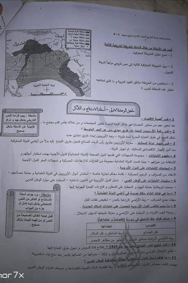 حل كتاب الإنجليزي للصف السابع في سوريا 2020