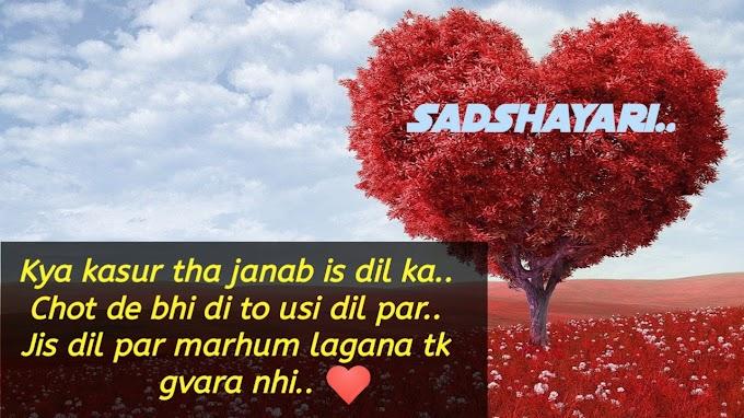 Kya kasur tha janab is dil ka | Sad Shayari | Love Shayari |