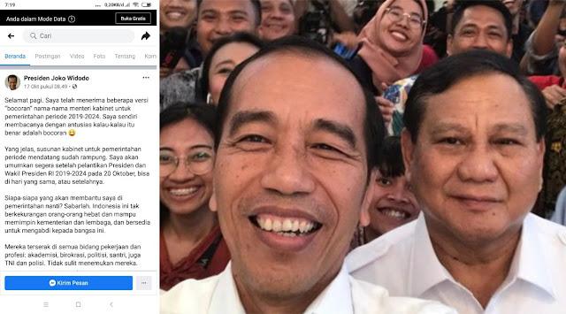 Jokowi Dapat 'BOCORAN MENTERI' Atau Jokowi Yang 'BOCOR' ?