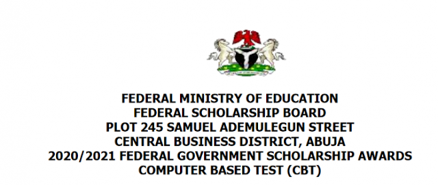 FEDERAL GOVERNMENT SCHOLARSHIP AWARDS FOR NIGERIAN IN TERTIARY INSTITUTIONS 2020/2021