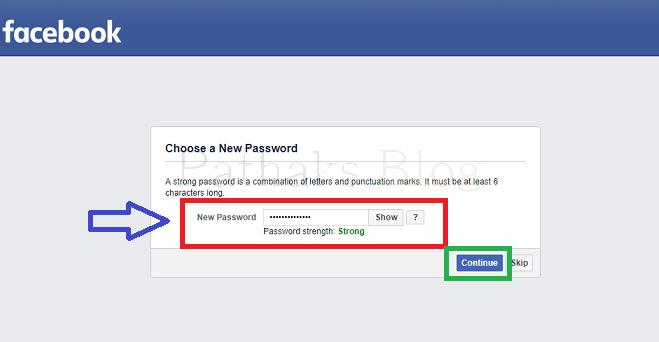I forgot my facebook password, facebook new password