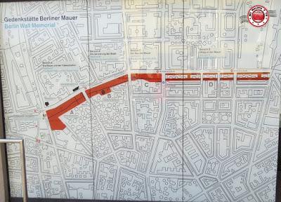 Plano Memorial y centro de documentación del Muro de Berlín