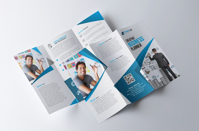 corporate, business, trifold, brochure, template, print, ready