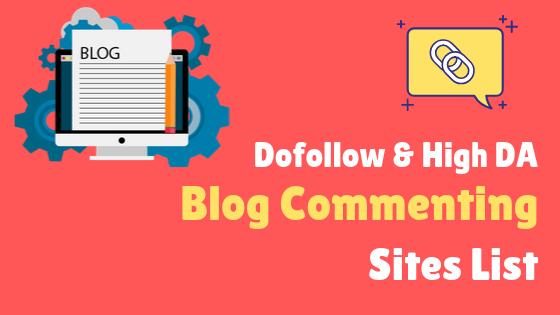 Blogger site list for backlink
