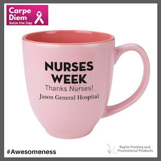 Promotional Pink Ribbon Ceramic Mugs