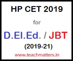 image : HP JBT CET 2019 D.El.Ed. 2019-21 @ TeachMatters