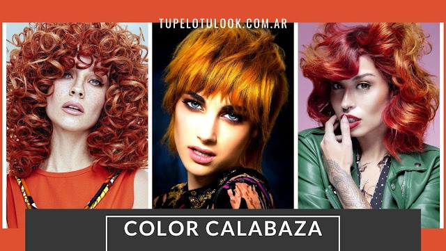 color de pelo naranja