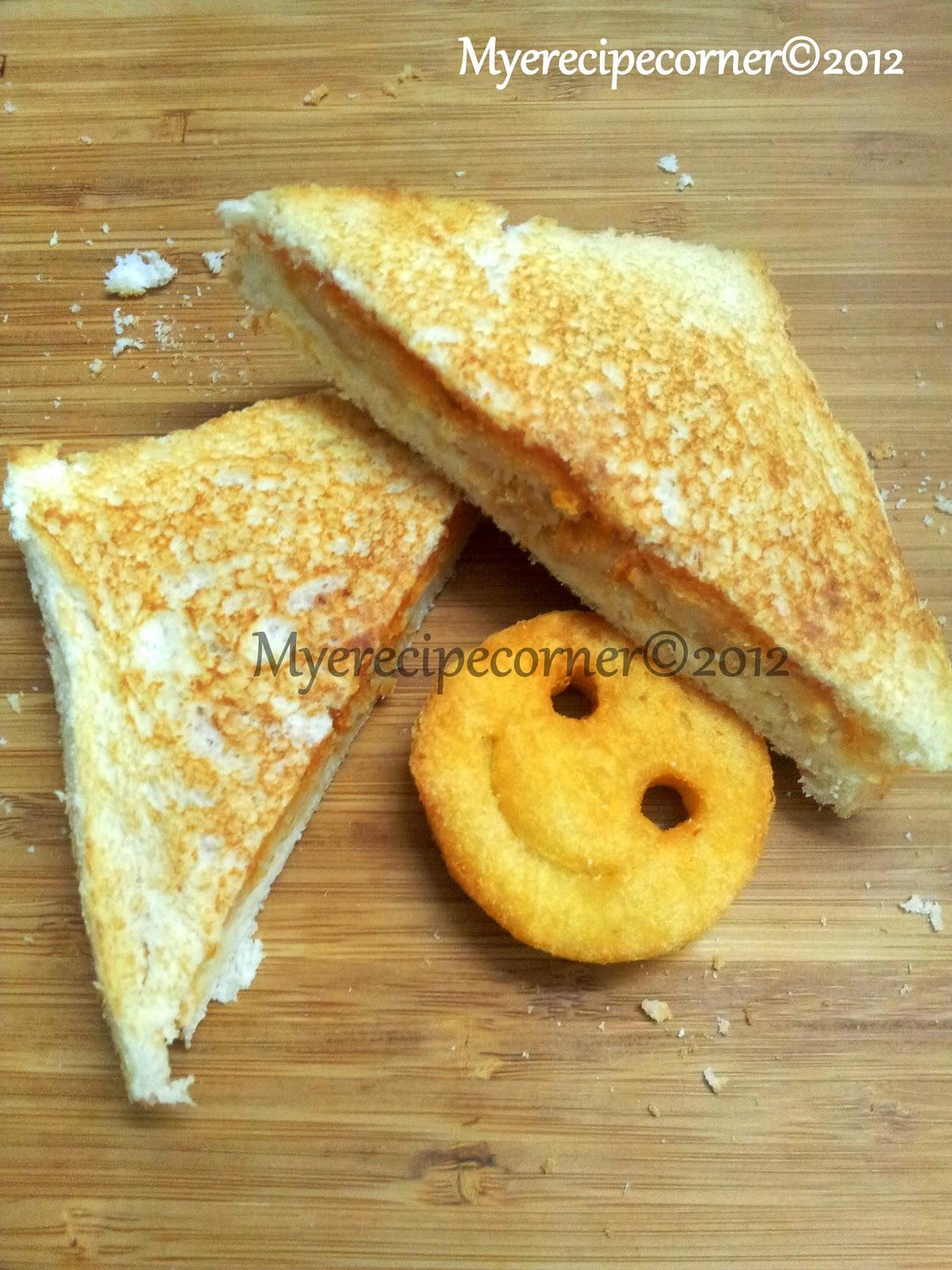 Smiley Potato Sandwich Kids Lunch Box Recipes Indian