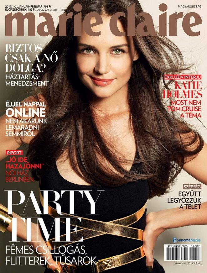 Katie Holmes poses for Marie Claire Hungary, January 2012