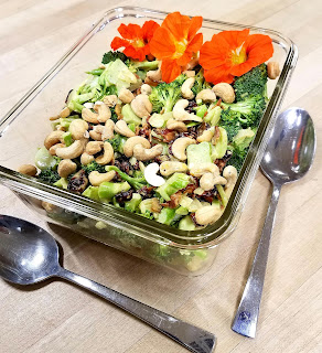Broccoli Salad with a Curry Dressing!