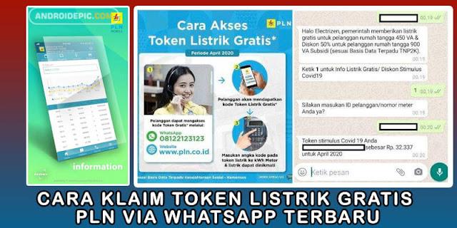 """Link kompensasi pln token listrik gratis, bisa diakses via whatsapp dengan cara mengetik """"Listrik Gratis"""". Masukkan nomor meter listrik, Token listrik gratis akan muncul."""