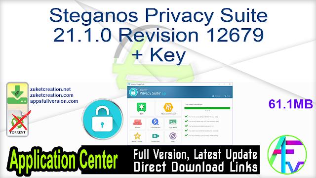 Steganos Privacy Suite 21.1.0 Revision 12679 + Key
