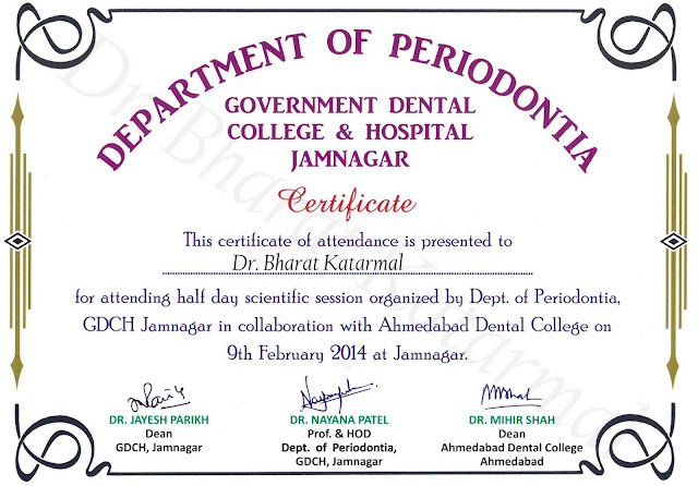 Department of Periodontia Government Dental College and Hospital Jamnagar