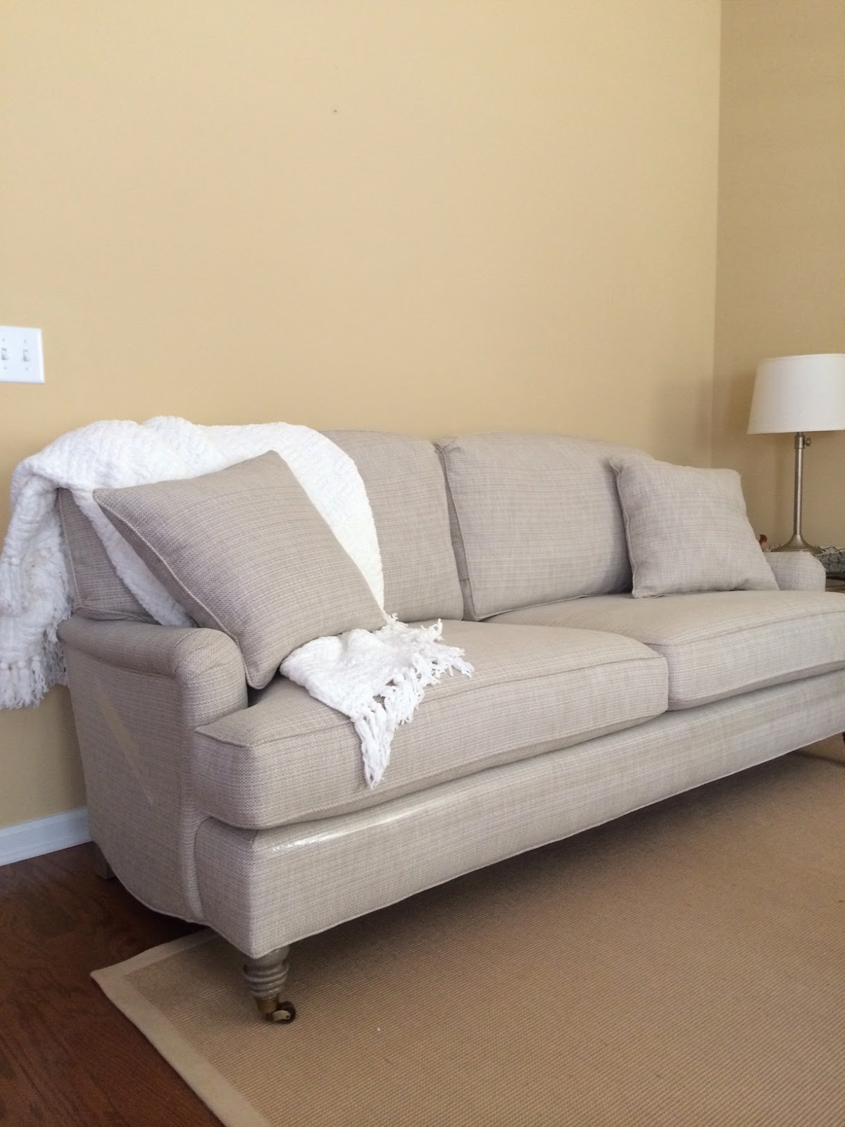 Big Sofa Island Greige Our Home Update Photos New Furniture The Great Paint Debate