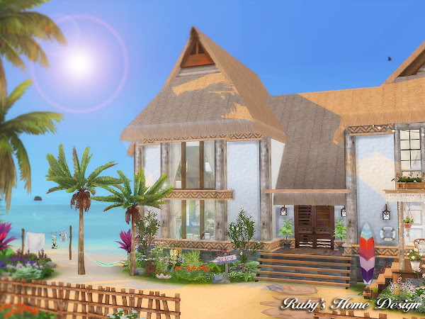 Sims 4 Tropical Island Home  島嶼夢想家