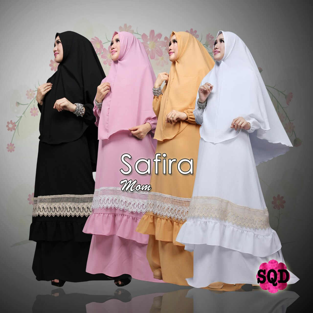 Jual Baju Hijab Edisi Lebaran 2017 Safira Mom And Kid By SQD