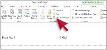 How to Remove Header or Footer from Single Page in MS Word
