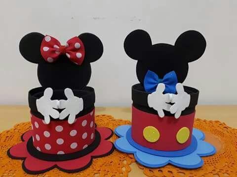 Moldes Y Tutorial De Como Hacer Un Dulcero De Mickey Mouse Para