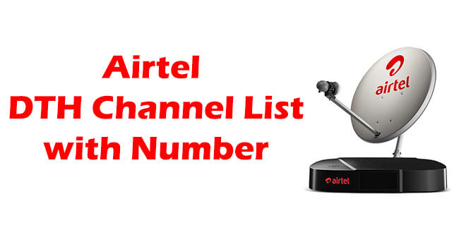 {2021} Airtel DTH Channel List with Number