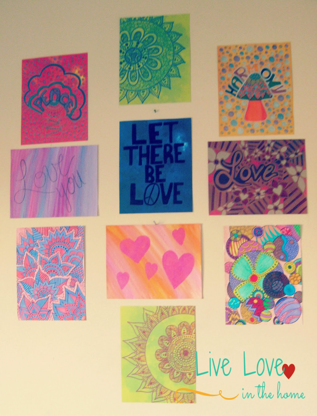 Wall Art Collage Inspiration |  Live Love in the Home