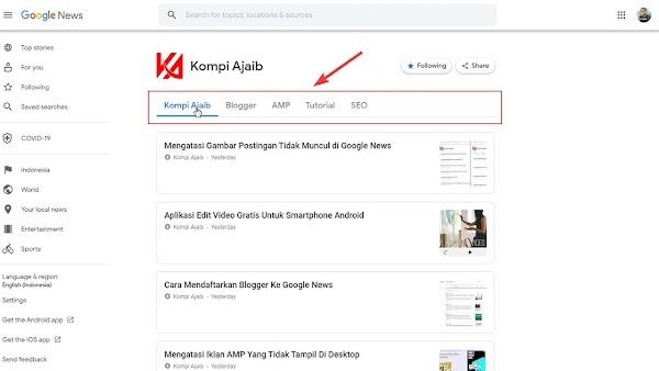 Membuat Banyak Tab di Google News Untuk Blogger
