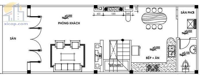 Mẫu nhà cấp 4 gác lửng giá rẻ đẹp hoàn hảo 2 - 3 phòng ngủ