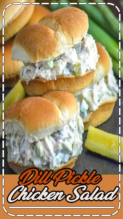 Chopped rotisserie chicken, chunks of crisp dill pickles, & freshly sliced green onions are all tossed in a creamy dressing for an amazing sandwich or cracker spread that should be on any pickle-lovers bucket list.