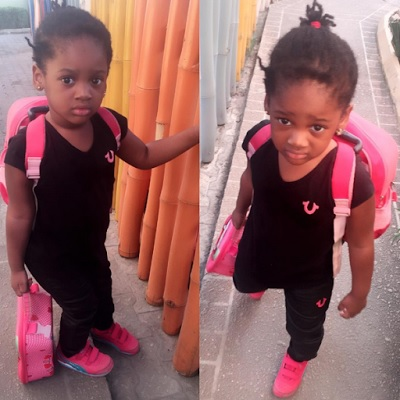 Annie Idibia's second daughter started school today (photo)