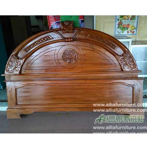 tempat tidur kayu jati ukiran astina