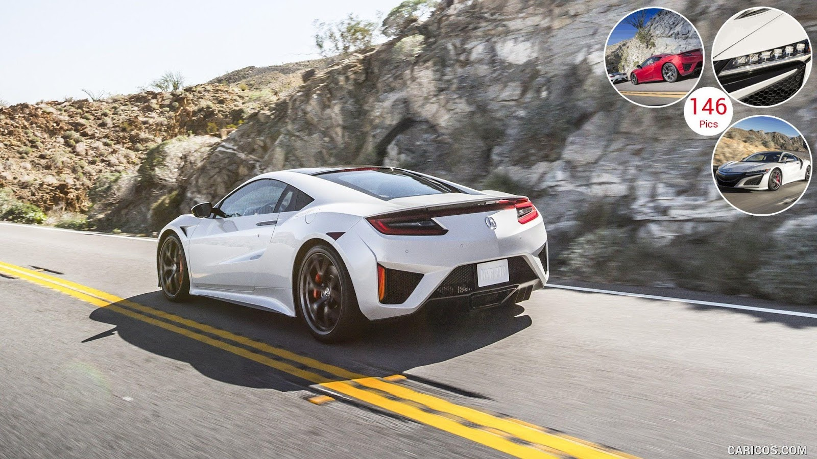 2017 Acura NSX White HD car image