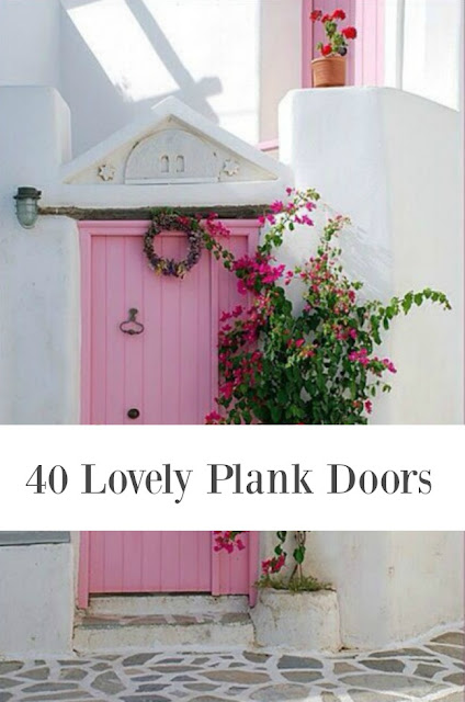 image result for pink plank door 40 beautiful doors inspiration