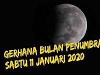 11 Januari Gerhana Bulan Penumbara Akan Melintasi Langit Indonesia, Catat Waktunya