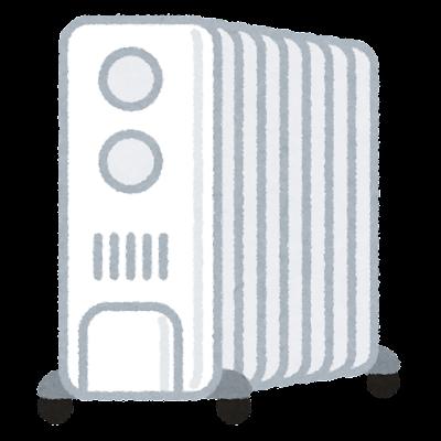オイルヒーターのイラスト