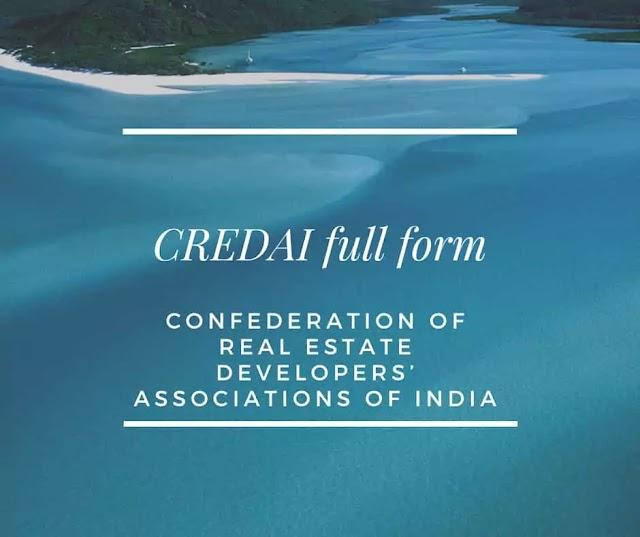 CREDAI full form - full form of CREDAI