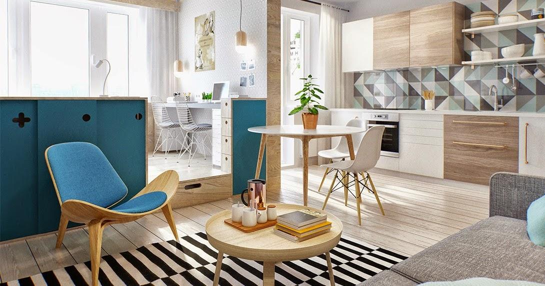 sp cial petits espaces un studio de 40 m2 bien pens blog d co mydecolab. Black Bedroom Furniture Sets. Home Design Ideas