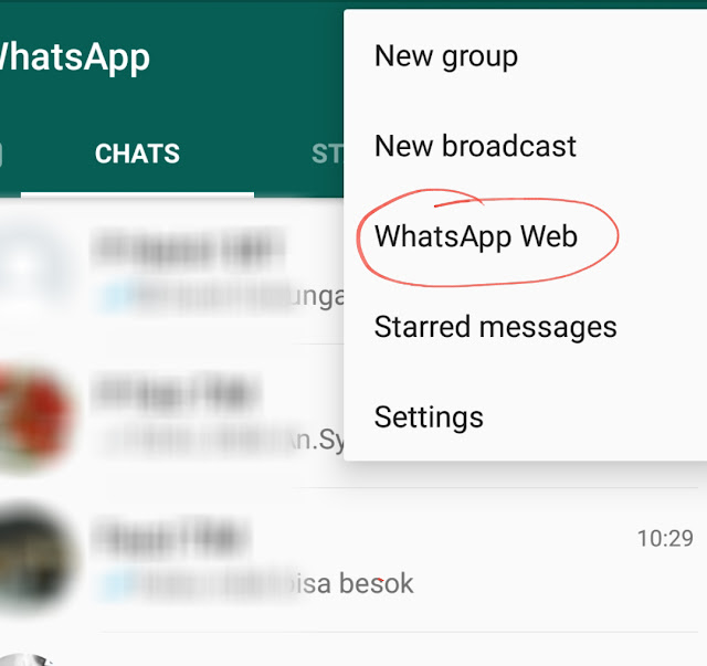 WhatsApp via Komputer