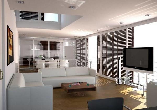 Desain Interior Ruang Keluarga Menyatu