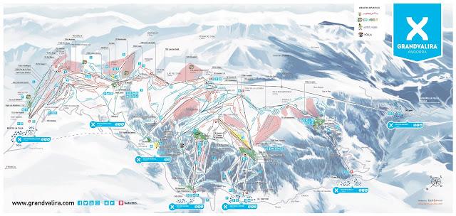 Mapa de pistas de Grandvalira