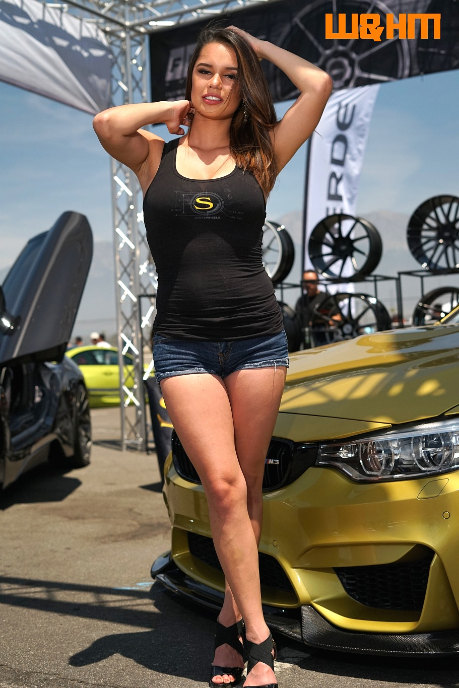 wheels and heels magazine w hm sultry model ally joy for savini wheels at bimmerfest 2017. Black Bedroom Furniture Sets. Home Design Ideas