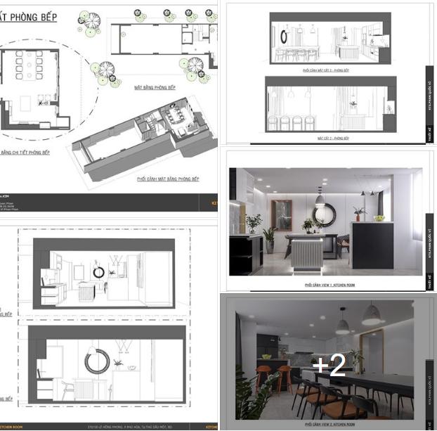 Concept: Kitchen room kèm file 3d SU tham khảo