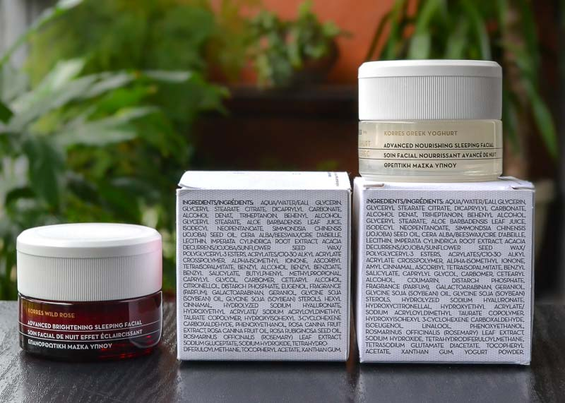 Korres Wild Rose Greek Yoghurt Advanced Brightening Nourishing Overnight Sleeping Facial Masks - Ingredients
