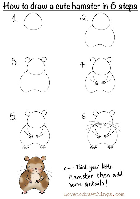 How to draw a cute hamster