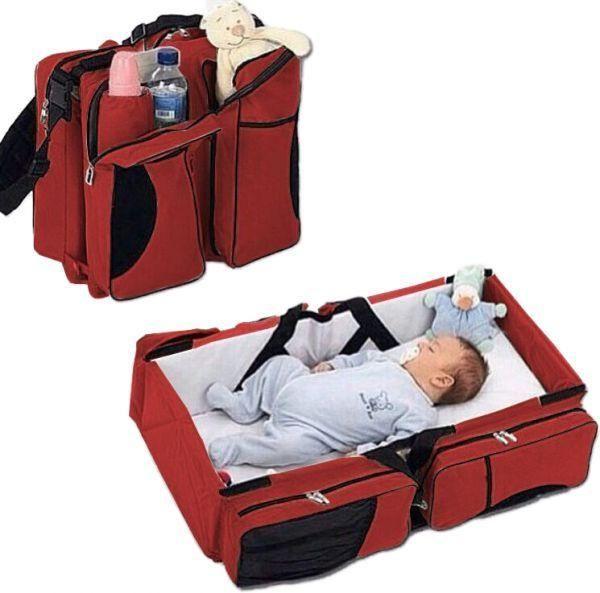 شنطة و سرير للأطفال 4 في 1