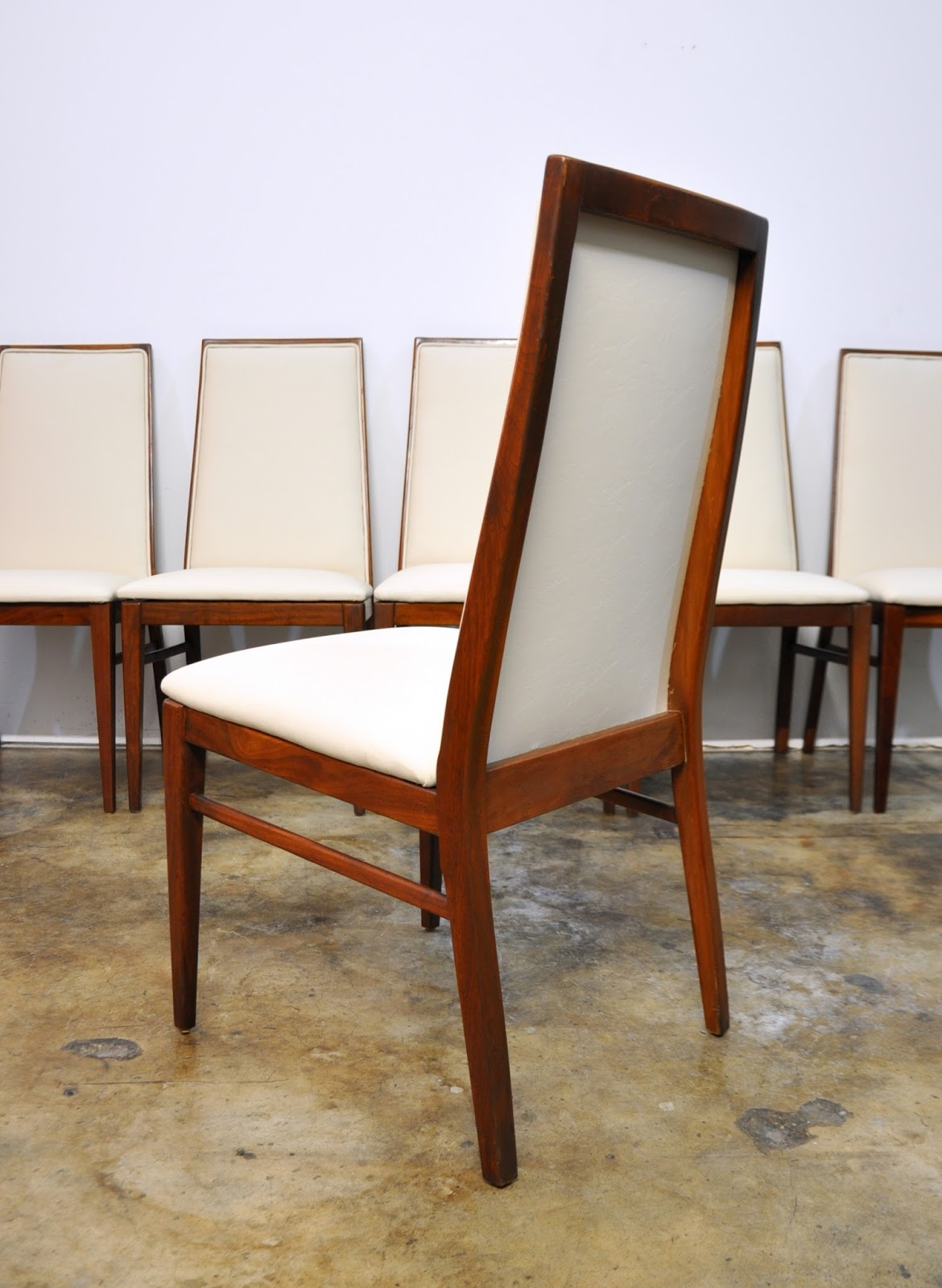 Milo Baughman Chairs Select Modern Set Of 6 Milo Baughman Dining Chairs
