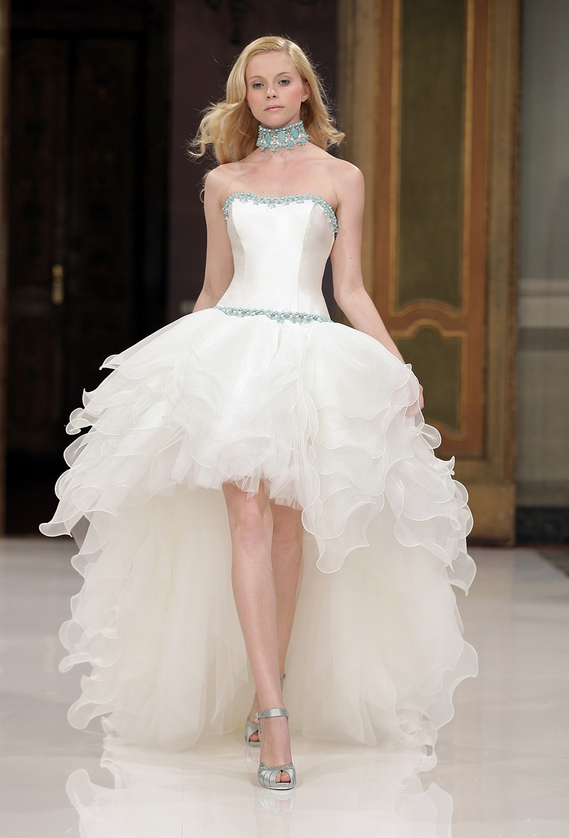 1001 fashion trends: High-low Wedding dresses