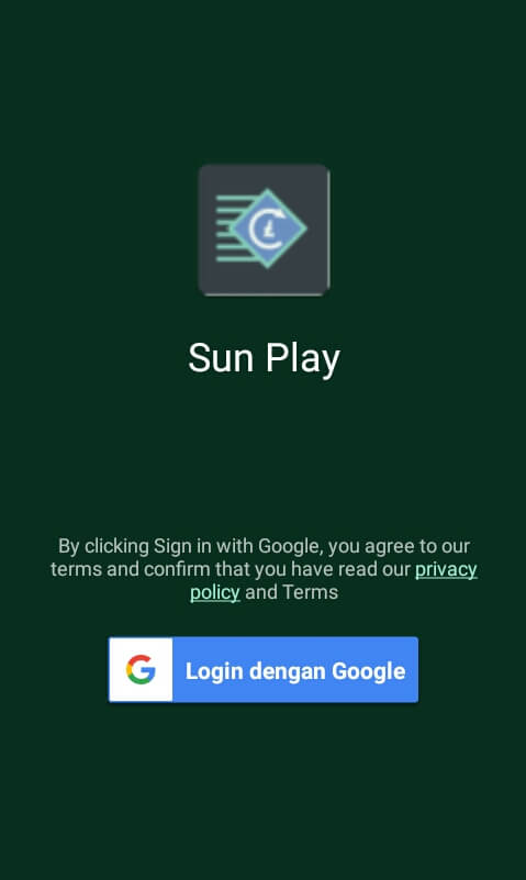 silahkan Masuk/Login menggunakan akun Google.