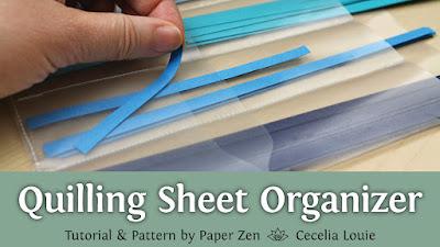 Quilling Strip Sheet Organizer