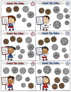 Coin Counting Task Cards Examples
